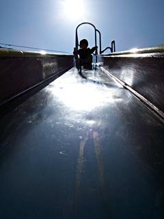 at slide